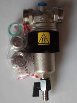 Магнитен филтър и сепаратор за утайка с месингов корпус