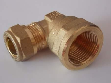 """Коляно 90° с компресионен пръстен Ø15 мм x 3/4"""" вътрешна резба ISO7"""