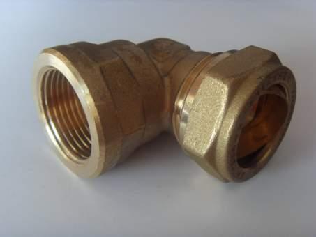 """Winkel 90° mit Klemmring Ø22 mm x 3/4"""" Innengewinde ISO7"""