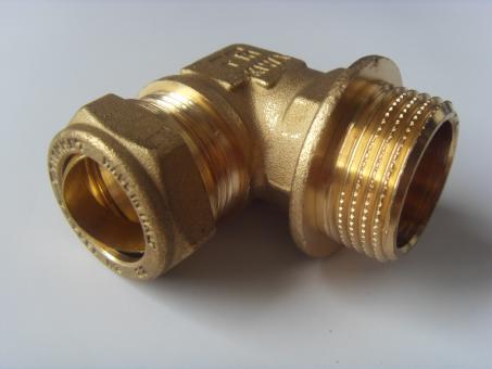 """Winkel mit Klemmring Ø22 mm x 1"""" Außengewinde ISO228"""